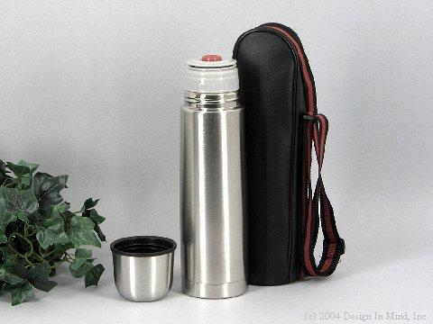 16 oz. double wall stainless vacuum bottle with case