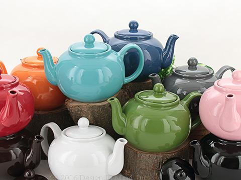 English style 8 cup teapots for serving a crowd! Classic Brown Betty shape.