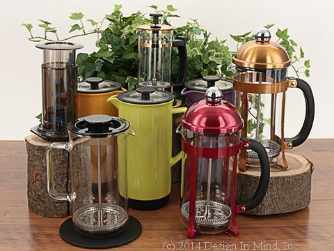 French Presses work equally well for coffee or tea.