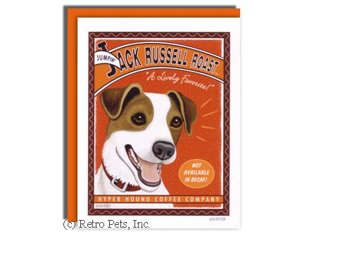 Jack Russel and Coffee Greeting Card