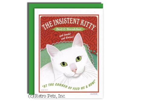 White Cat Greeting Card