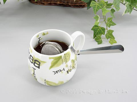 Stainless Steel 2 inch infuser with cup handle rest