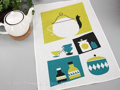 Spira Swedish Linen Towel - Pantry Turquoise