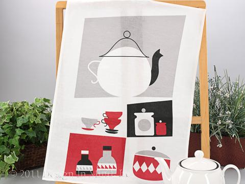 Spira Swedish Linen Towel - Pantry Red