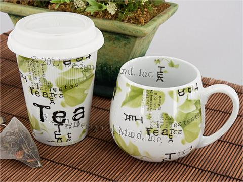 Snuggle Mug - Tea Collage