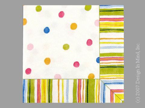 Smart Dots White napkin