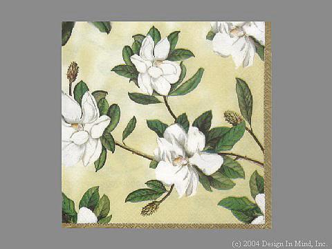 Magnolia Grandiflora Cream napkin