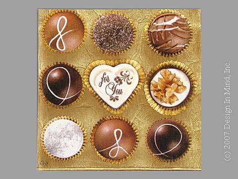 Chocolates napkin