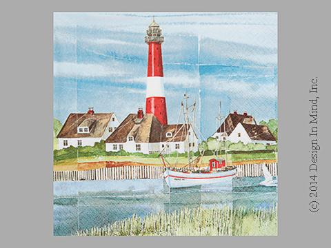 Lighthouse napkin
