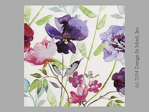 Purple Flowers napkin