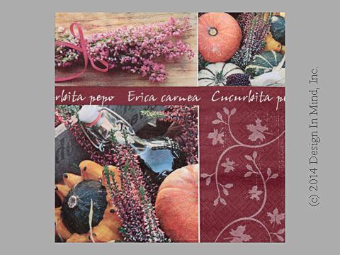 Lavender Garden napkin