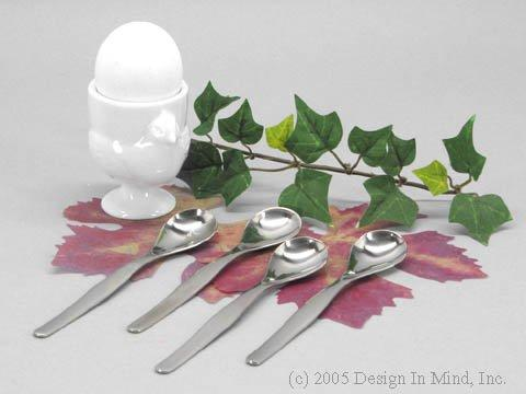 Egg Spoons, set of 4 - stainless