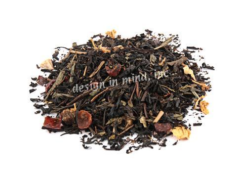 Flavored black tea and green tea blends.