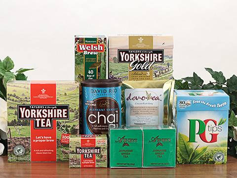 Well known brands of Great Britain, Ashbys of London, and Devotea ™ brand sachet teabags.