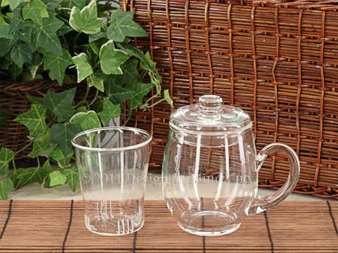 Glass brew in mug set - 12 oz.