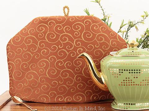 Tea Cozy - Golden Tendrils