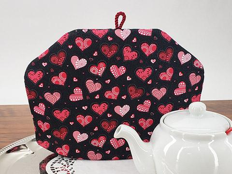 Tea Cozy - Patterned Hearts