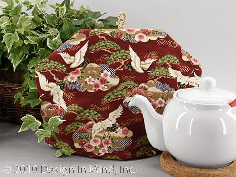 Tea Cozy - Crane Burgundy
