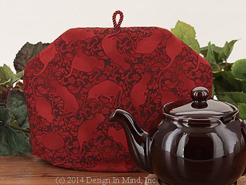 Tea Cozy - Red Felinity