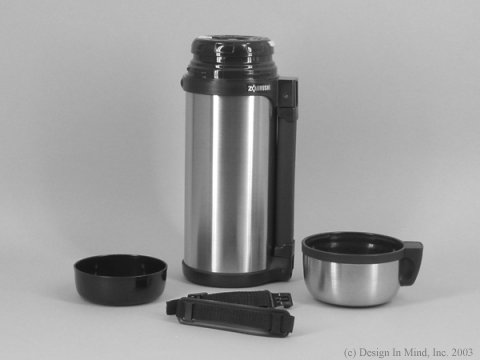 Zojirushi 1.5 QT. wide mouth stainless vacuum bottle with strap