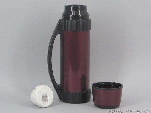 Zojirushi 1 Ltr. SS burgundy vacuum bottle