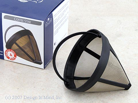 Finum Goldtone #4 Coffee Filter