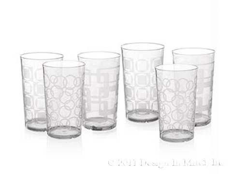 Etched Tumbler Set of 6 (24 oz)