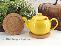 Use our cork trivet under your teapot to help keep the teapo...