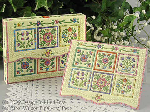 Flower Quilt Notecard Portfolio