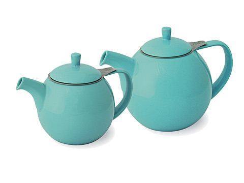 ForLife Curve teapot, turquoise