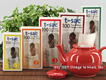 T-sac tea filters are single use unbleached paper filters fo...