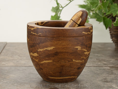 Bamboo Mortar and Pestle