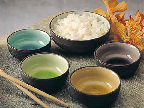 Japanese crackle bowls