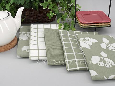 Towel Set - Fruit Green