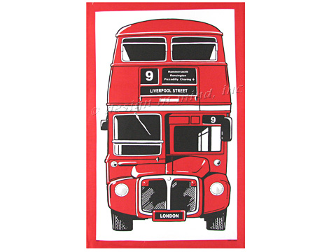 Tea Towel-Double decker