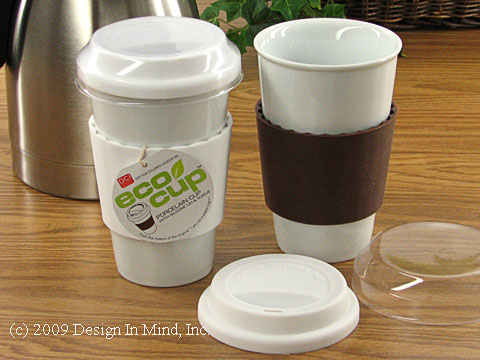 eco cup porcelain travel cup - set of 2