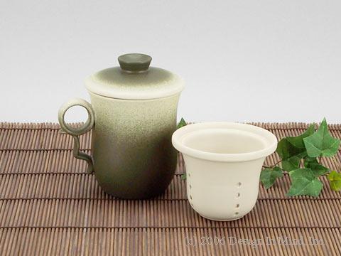 Stoneware infuser mug set - 9 oz.
