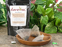 Fine loose teas packed in 2.5 gram pyramid teabags.