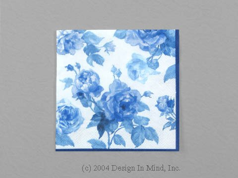 Scent of Roses Blue napkin