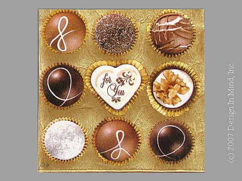 Chocolates napkin