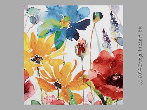Bright Flowers napkin