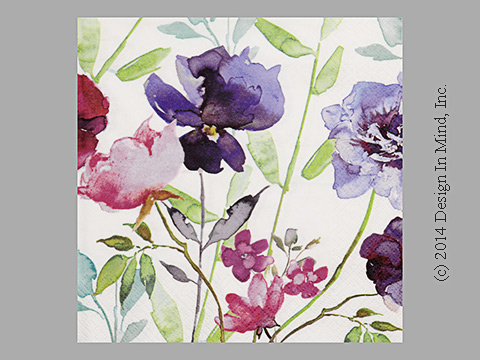 Purple Flowers napkin