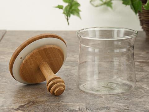 Bamboo Honey Dipper and Jar
