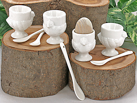 Chicken Egg Cup and Spoon Set