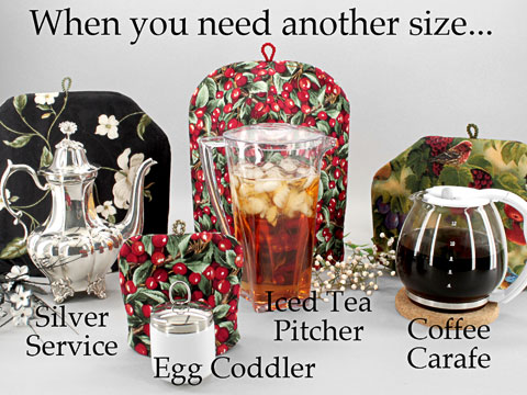Many tea cozy fabrics can be made in custom sizes when our regular sizes are too small.