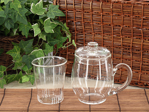 Glass brew in mug set - 12 oz.