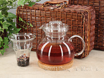 Marta glass teapot w/glass infuser (48 oz)...
