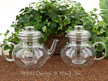 Glass teapots are preferred for green and white teas, and al...