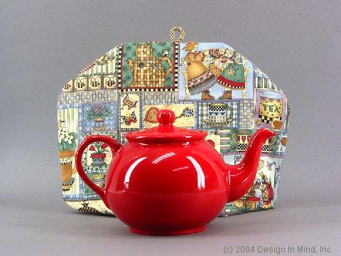 Bright red teapot - 40 oz.