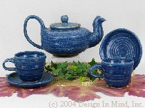 Davy Pottery Blue Solid Colored...